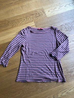 Gestreiftes Shirt altrosa und grau Größe S