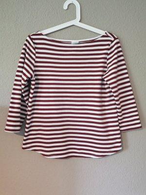 H&M Gestreept shirt wit-baksteenrood