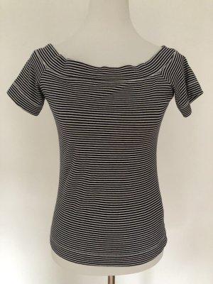 H&M L.O.G.G. Koszulka w paski biały-ciemnoniebieski