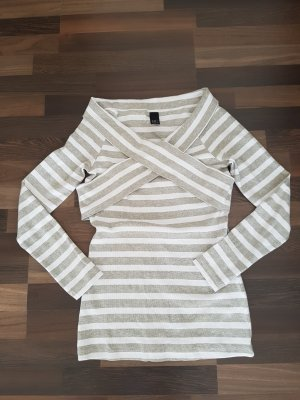 Gestreiftes Shirt in grau weiß