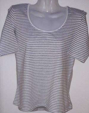 Gestreiftes Shirt mit 3/4 Ärmeln Klassisch Maritime Ringelshirt