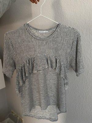 Gestreiftes Shirt mit Rüschen