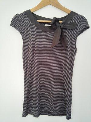 H&M Stripe Shirt white-anthracite