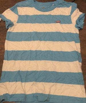 Levi's Camiseta Básico blanco-azul celeste Algodón