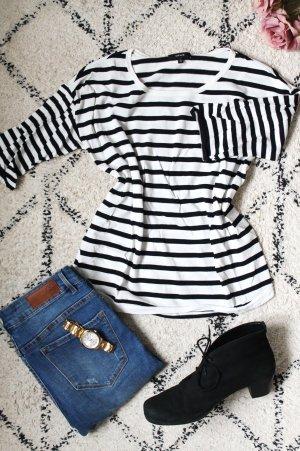 Opus Ribbed Shirt white-black