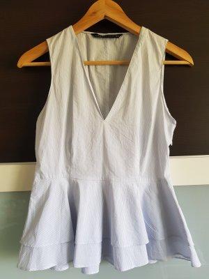 Gestreiftes Shlößchentop aus Baumwolle von Zara