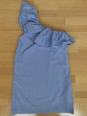 Gestreiftes Sommerkleid mit Volant von Abercrombie & Fitch