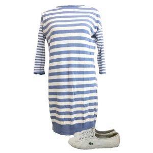 Bluoltre Vestido estilo camisa multicolor fibra textil