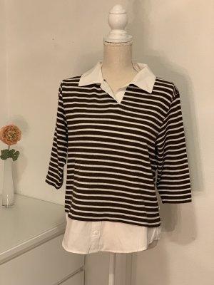 Basic Concept Blouse met lange mouwen zwart-wit