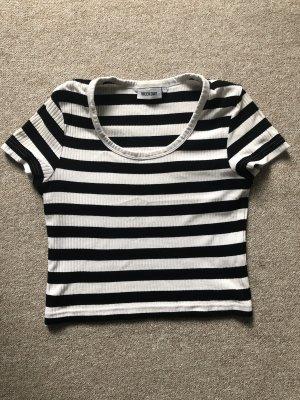 Weekday Camicia cropped bianco-nero