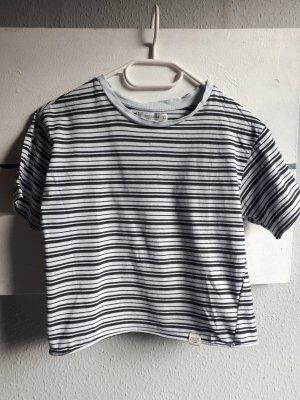 gestreiftes T-Shirt, cropped