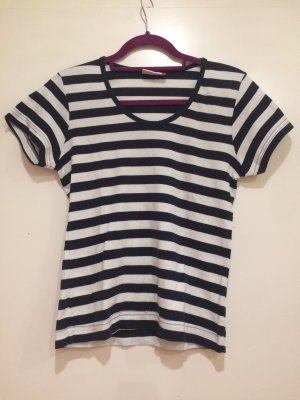 Gestreiftes T-Shirt dunkelblau-weiß