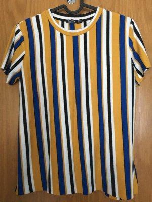 Gestreiftes T-Shirt in blau, weiß, gelb, schwarz