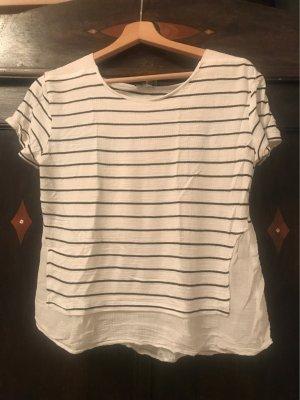 Gestreiftes T-shirt mit leicht transparentem Rücken