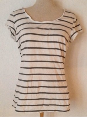 Gestreiftes T-Shirt Shirt Sommer grau weiß Größe M 38/40