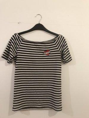 Gestreiftes T-shirt Striped Top off the shoulder