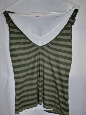 3 Suisses Camiseta sin mangas gris verdoso