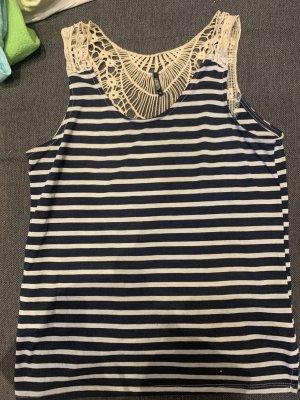 myhalys Camiseta sin mangas blanco-azul oscuro