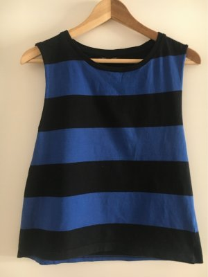 Topshop Basic topje zwart-blauw