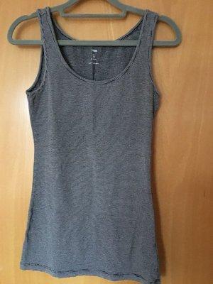 H&M Tank Top black-white mixture fibre