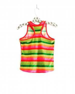 gestreiftes top / shirt / velvet / vintage / regenbogen / boho / hippie