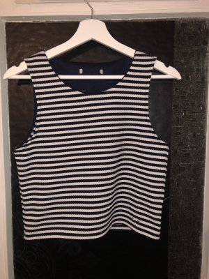 Pepe Jeans A-lijn top wit-donkerblauw