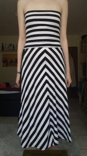 gestreiftes trägerloses Kleid
