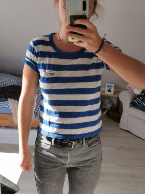 Hollister T-Shirt white-blue