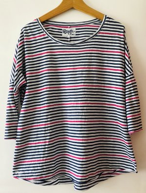 T-shirt rayé multicolore coton