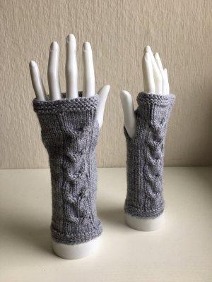 Handmade Fingerless Gloves grey