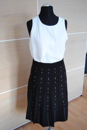 H&M Falda a cuadros blanco-negro Viscosa