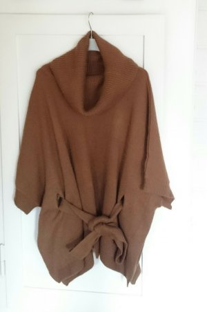 H&M Knitted Poncho bronze-colored