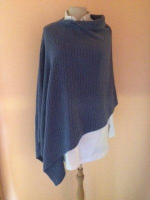 Knitted Poncho slate-gray viscose