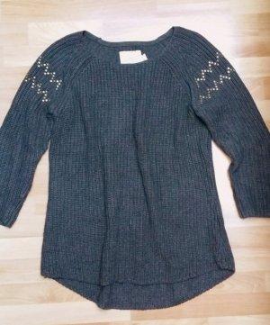 gestrickter Pullover Strickpullover in dunkel grau von H&M Gr. M