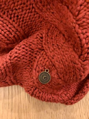Campus by Marc O'Polo Tube Scarf dark red wool