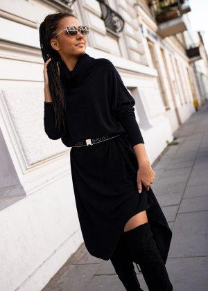 Bastet Sukienka z dzianiny czarny