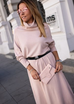 Bastet Abito maglione rosa pallido