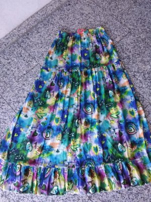 Made in Italy Broomstick Skirt multicolored
