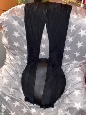 Gestutzt Exklusive Glanz Leggings mit toller Rautenaplikation auf den Knien!Neu Gr.L