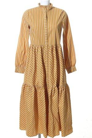 Gestuz Blouse Dress light orange-white striped pattern casual look