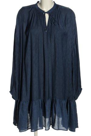 Gestuz Robe chemisier bleu motif animal style décontracté
