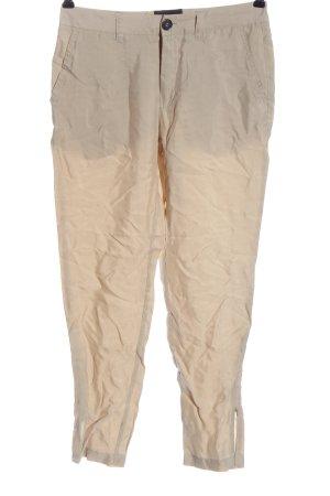 Gestuz Spodnie z wysokim stanem kremowy W stylu casual