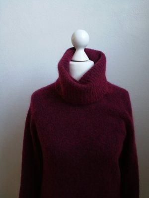 GESTUZ Himbeer Pullover Gr. M Mohair Wolle Rollkragen purpur DE 38/40 Blogger
