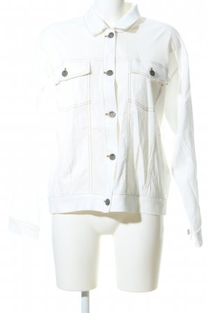 Gestuz Camisa vaquera blanco look casual