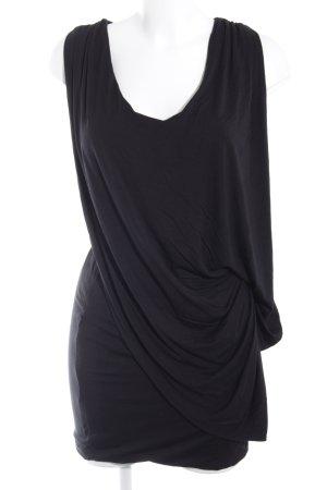 Gestuz Jerseykleid schwarz Elegant