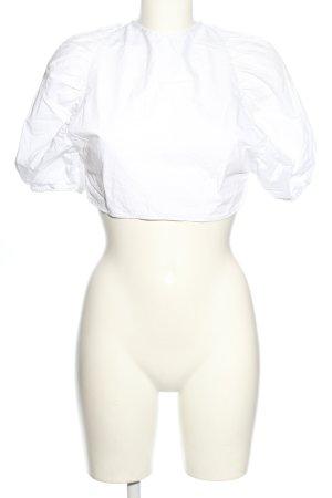 Gestuz Bluzka z krótkim rękawem biały Ekstrawagancki styl