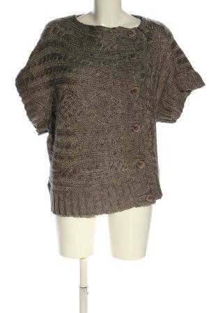 Gestuz Short Sleeve Knitted Jacket brown flecked casual look