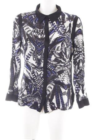 Gestuz Langarm-Bluse abstraktes Muster Casual-Look