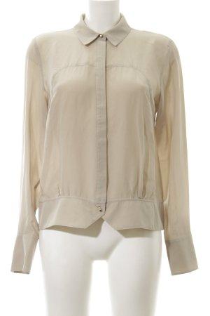 Gestuz Langarm-Bluse beige schlichter Stil