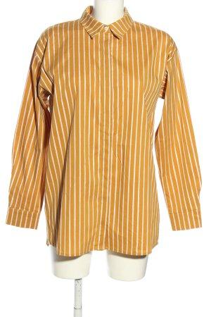 Gestuz Long Sleeve Shirt light orange-white striped pattern casual look